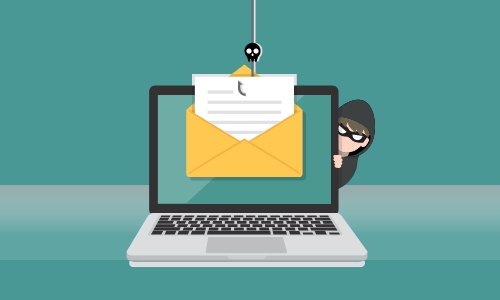 Illustration of an email phishing attempt