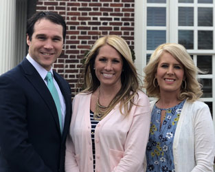 Mortgage team at Jefferson Bank, two women and one man
